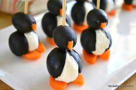 Olive Cocktail Penguins