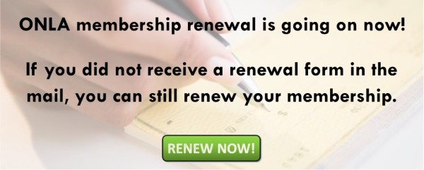 ONLA 2017 Membership Renewal