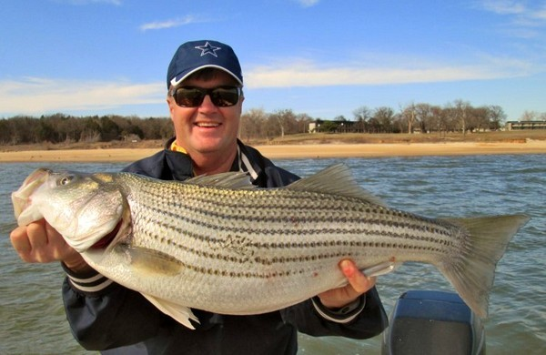 Guided Striper Fishing on Lake Texoma