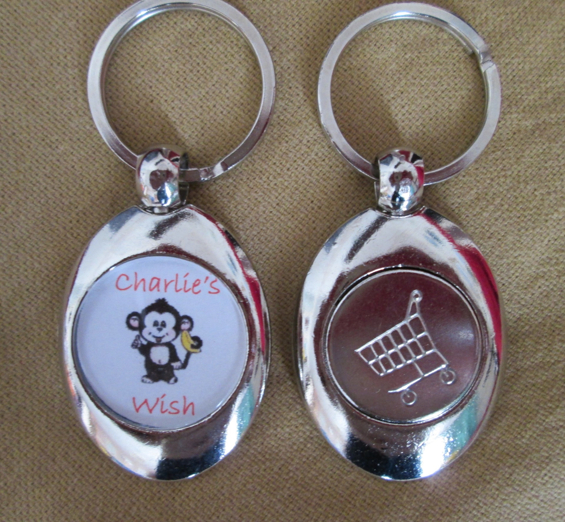 Charlie's Wish Trolley key ring