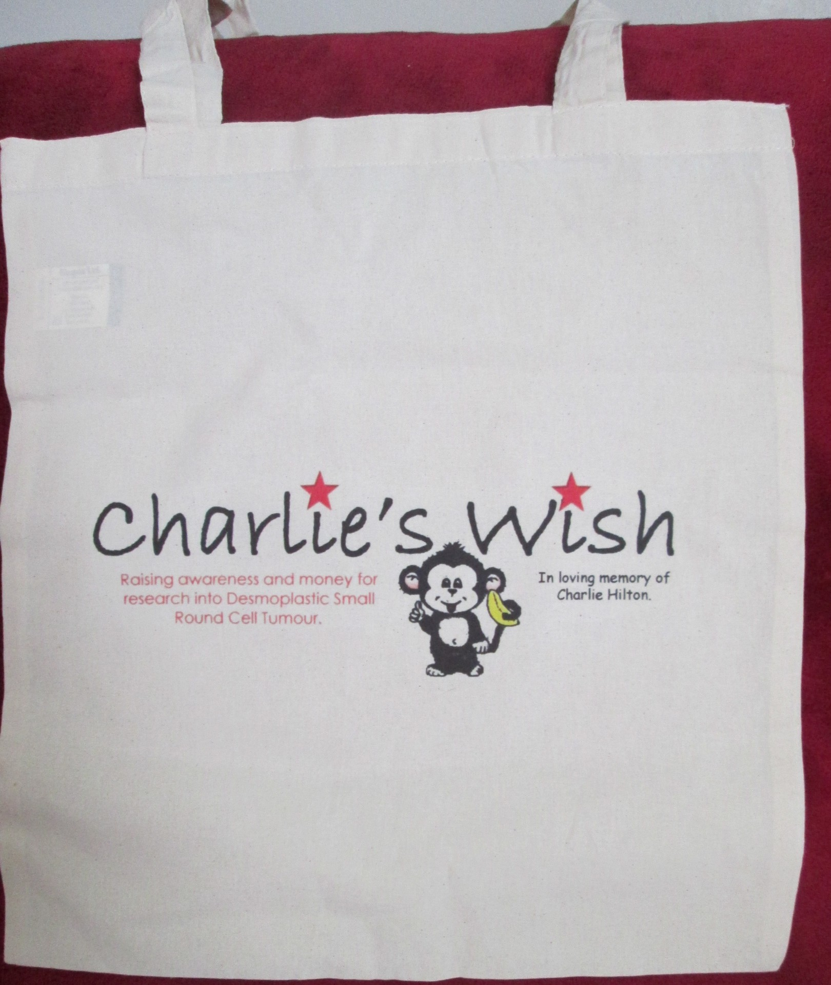 Charlie's Wish Fabric shopping bag