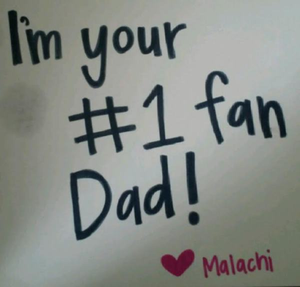 The Father's Day card that Malachi made