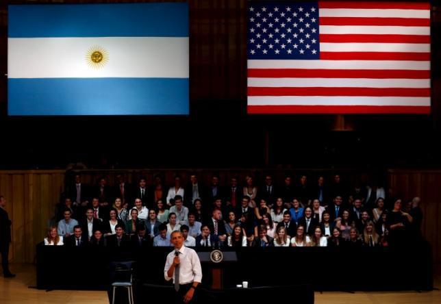 President Obama visiting Argentina