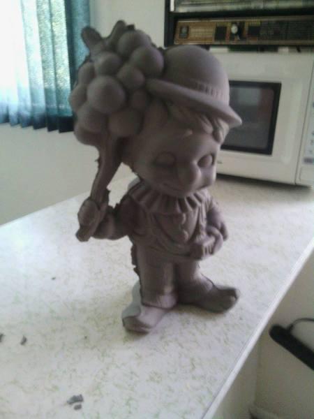 Clay sample. (Before kilning)