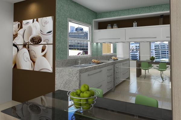 Integrated kitchen and living