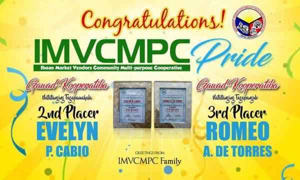 Congratulations Chairman Romeo De Torres & Gen.Manager Evelyn Cabio!