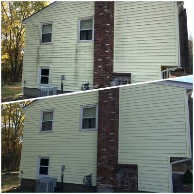 soft wash exterior in Foxboro, clean exterior Norton, softwash siding Sharon, Mansfield, remove stains Walpole, Norwood