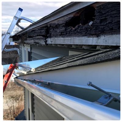 replace rotten fascia board, install new trim board, install fascia apron, replace fascias with PVC, install Azek board
