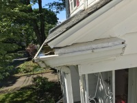 gutter repair in Foxboro, reattach downspout in Plainville