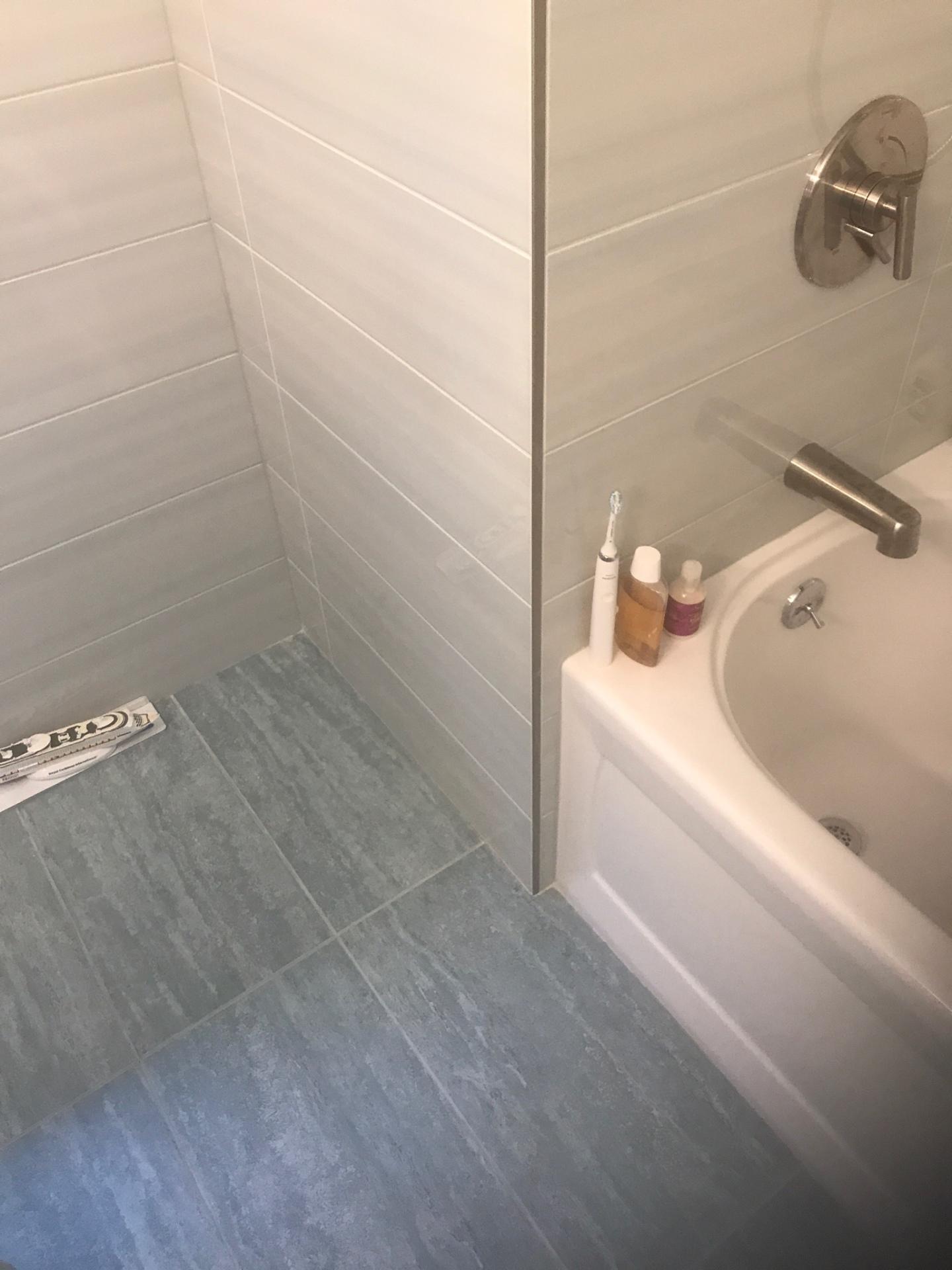 bathroom remodeling and bathroom renovation, replaced sink and bathroom vanity. replaced shower doors