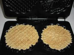 Pizzelles in the making.