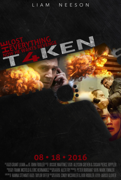 Taken 4 Movie Posters Concept