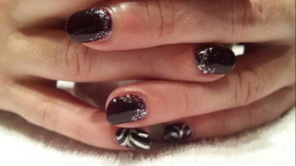 posh, fresh, nails, nail-art, glitter, chrome