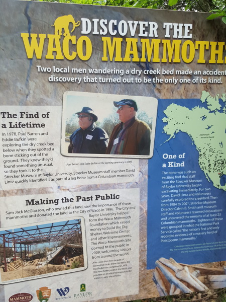 Waco Mammoth National Monument, newest national monument