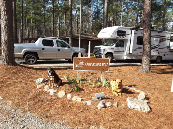 Our first campground hosting job