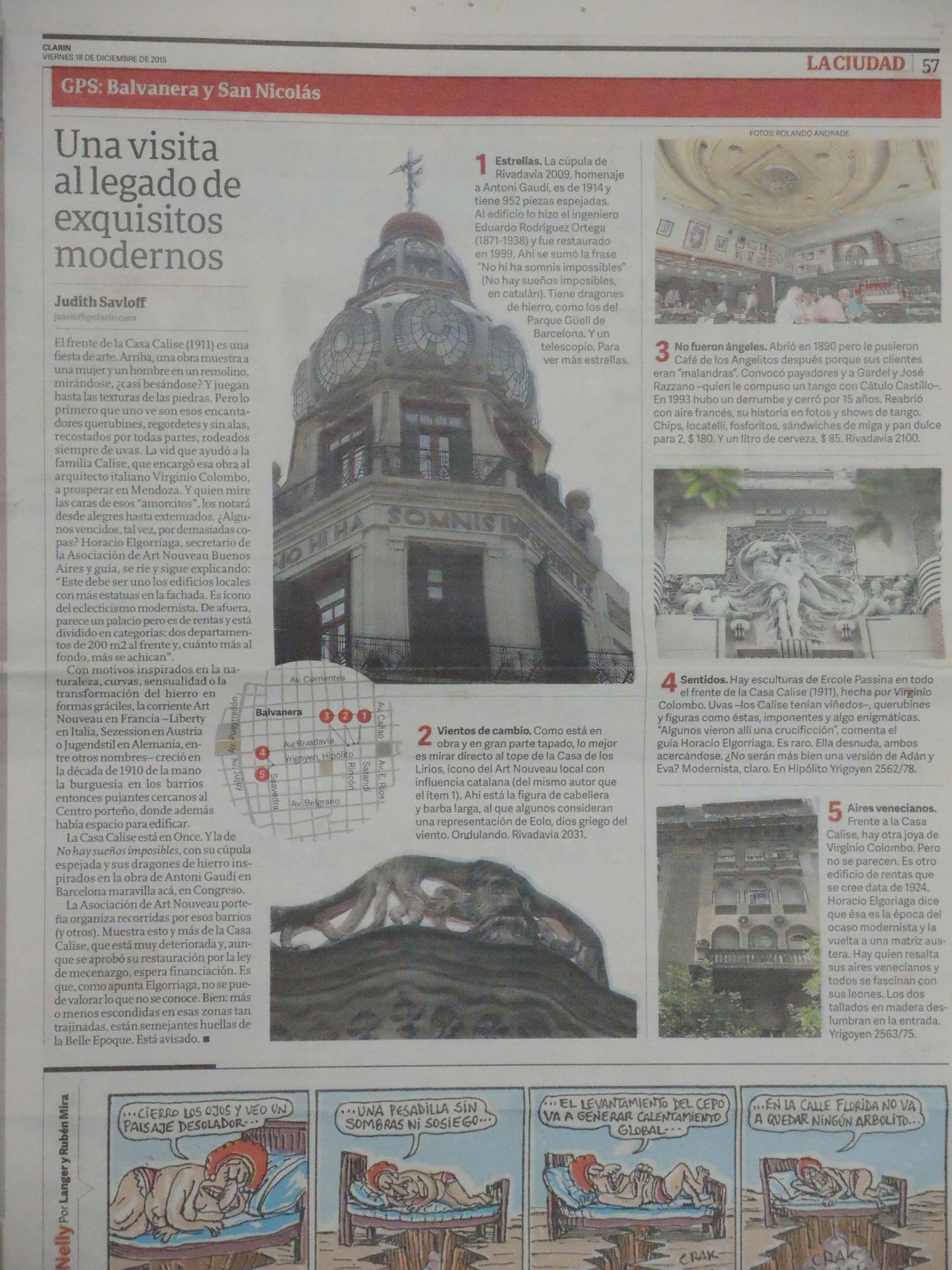 Diario CLARIN sobre nuestros recorridos y mapas
