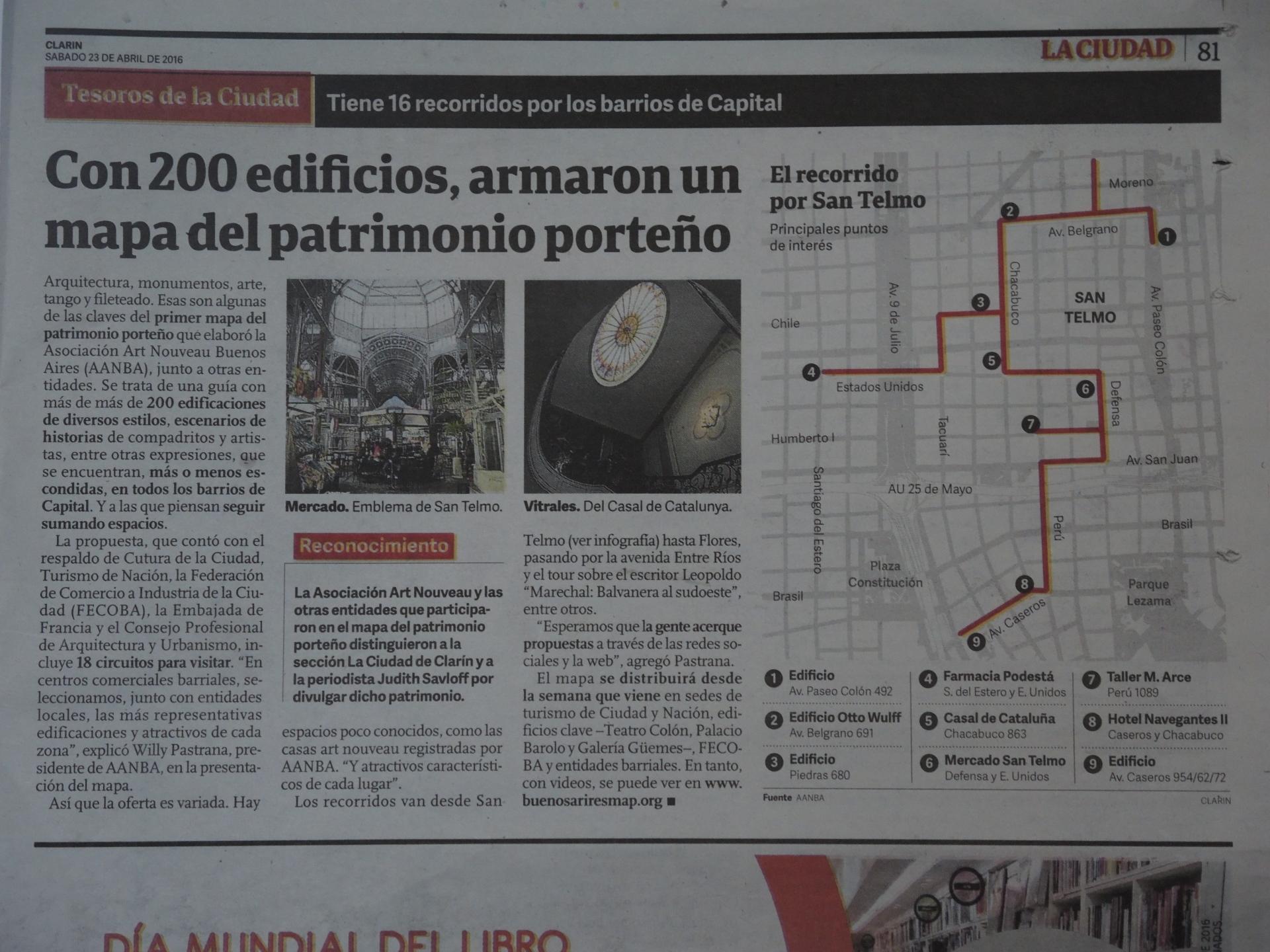 Nos publicaron un gran artículo en el CLARIN sobre el Gran Mapa