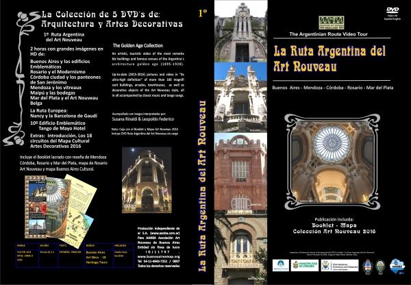 El DVD y Booklet de la Ruta Argentina del Art Nouveau