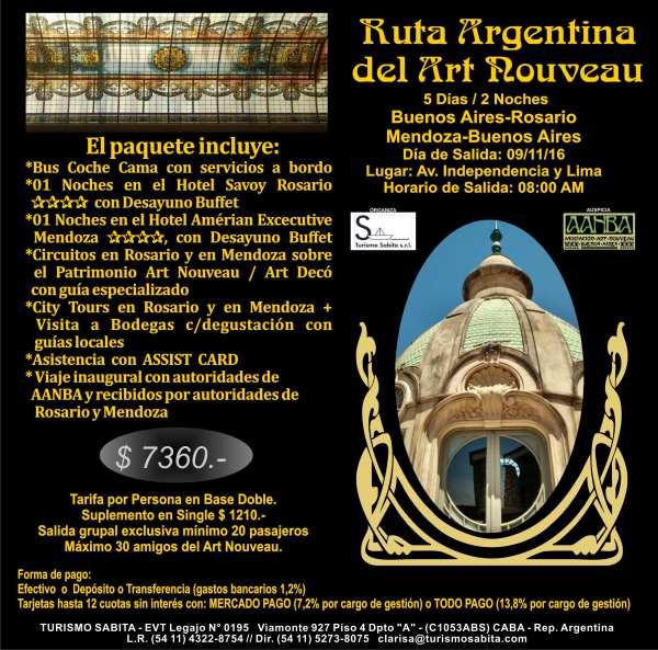 Viaje Inaugural de la Ruta Argentina Art Nouveau a Rosario Y mendoza