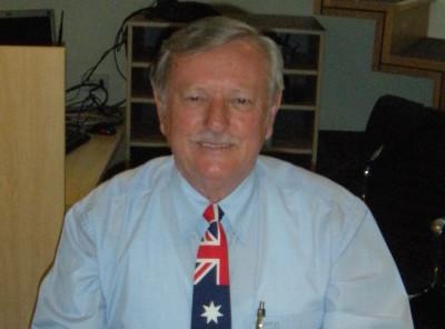 Bert Lane - President  Australian National Flag Association W.A.