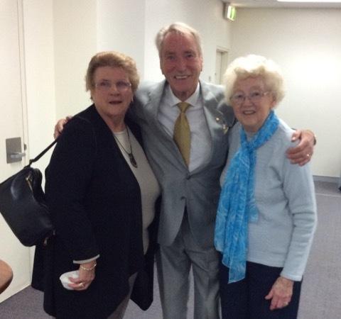 Frank Ifield with  Merril Prestidge and June Duffield