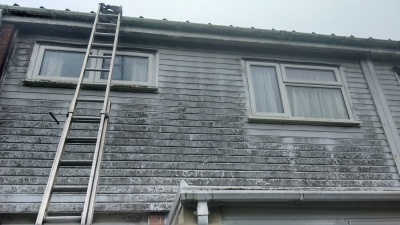 Gutter and cladding before a Gold Coast clean North Devon