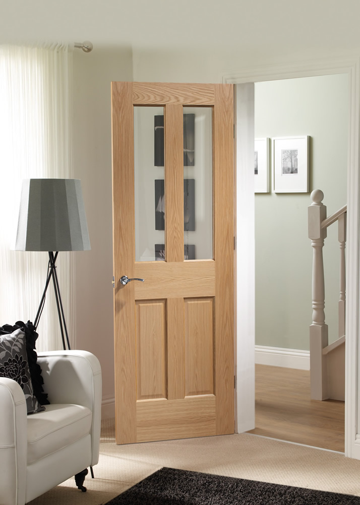 Malton Internal Oak Door Glazed
