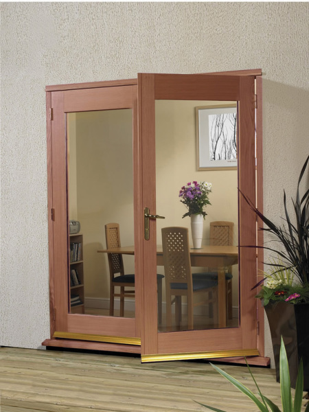 La Porte French Door External Hardwood Set
