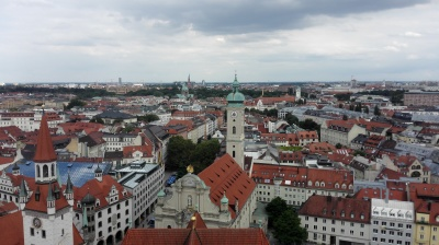 Sky view of Munich centre
