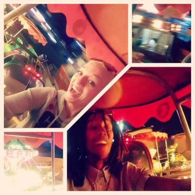 Selfie's on fairground