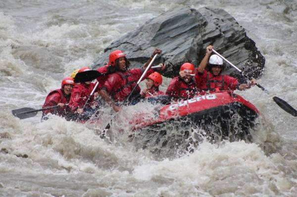 Rafting down the Alpine Rivers