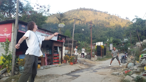 Badminton with the Locals