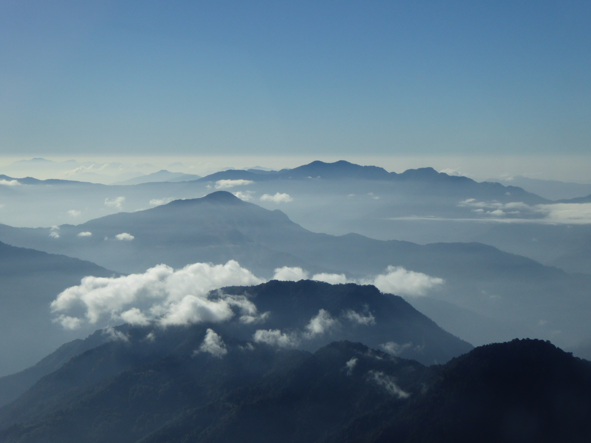 The Himalayas by air