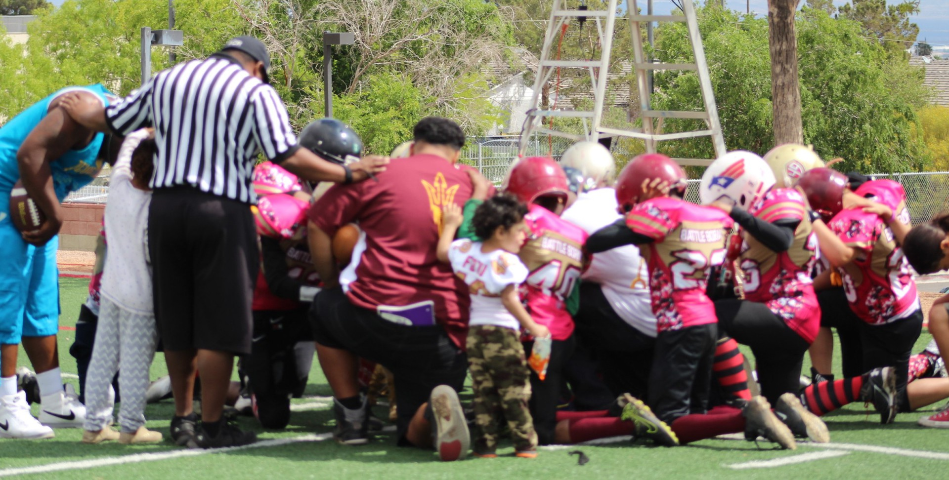 A team thats prays together stays together