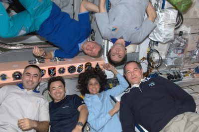Suni Williams and crew on the ISS