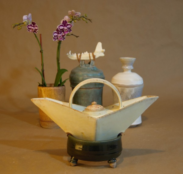 The Balance Teapot With Jars and Orchid