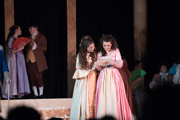 Julie Marie and Anna Maria Shockey in Steven W Rodgers' musical 'Revolutionary Gentleman'