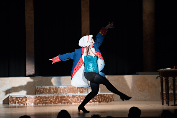 Liz Colandene, as Emily, dances during her song 'Who's to Say?' in Revolutionary Gentleman