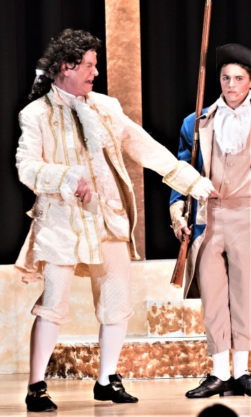 Mike Baker, Jr., as the sniveling, peevish Mr. Reed in Steven W Rodgers' Revolutionary Gentleman'
