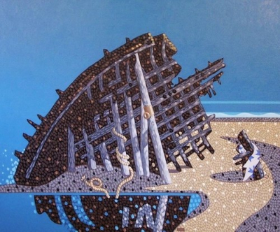 Shipwreck on the Shore of the Lyrical Landscape