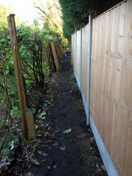 new repositioned fence