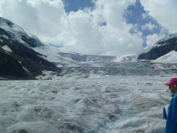 Standing on top of the Columbain Icefields AB/BC Canada