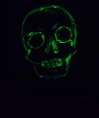 Memento mori glow skull