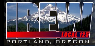 IBEW local 125 logo on the Pacific Northwest Lineman Rodeo home page