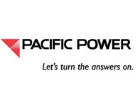 Pacific power logo on Pacific Northwest lineman rodeo home page