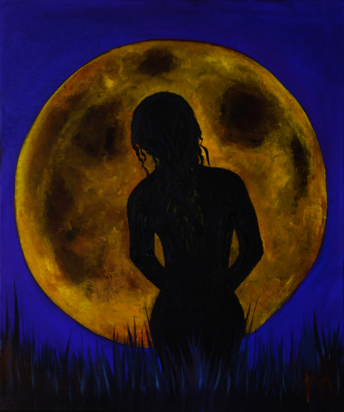 rollymoon, rolly-mouchaty, oil-painting, art, Boca-Raton, South-Florida, oil-on-canvas, nude-moon