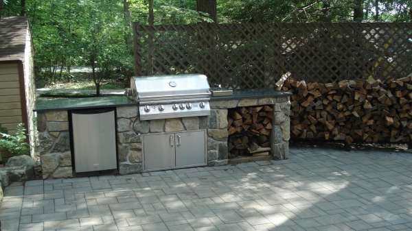 Built in BBQ