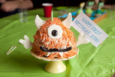 Little Monster Birthday Cake