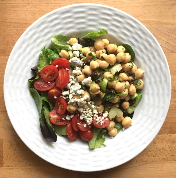Chickpea Salad with Lemon and Herbs