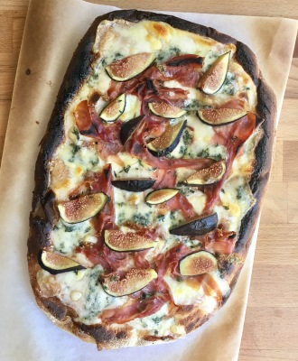 Fig and  Prosciutto Flatbread - and some WINE!